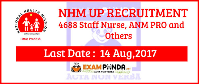 NHM UP recruitment details 2017