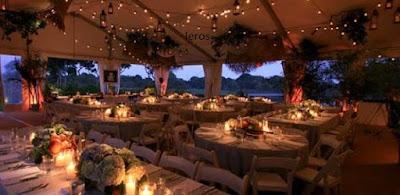 catene lampadine per matrimoni