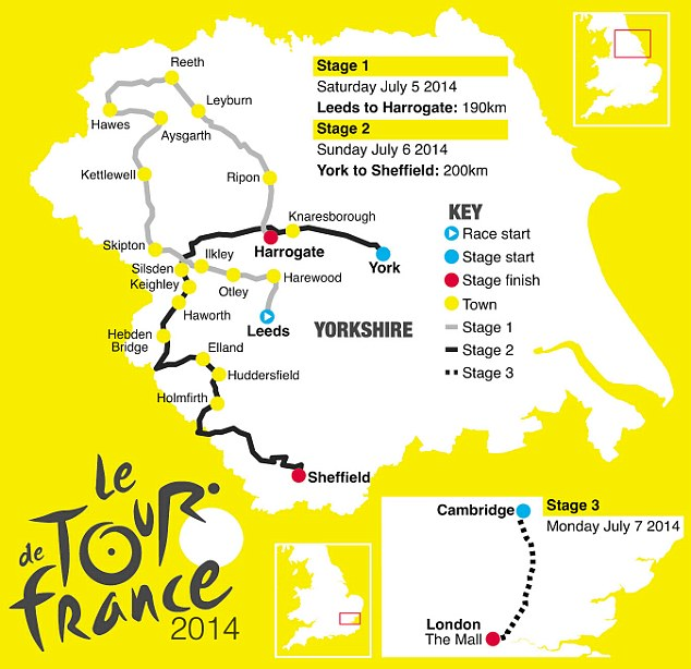 Map Of France Key Stage 2.Tour De France In Yorkshire 2014 Social And Economic Effects Of