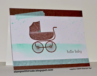 Stampin' Up! baby card, Something for baby stamp set, card created by Trude Thoman http://stampwithtrude.blogspot.com