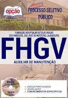 Apostila FHGV RS 2017 Auxiliar de Manutenção