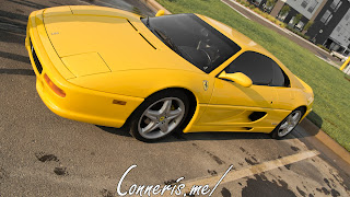 Yellow Ferrari F355 side