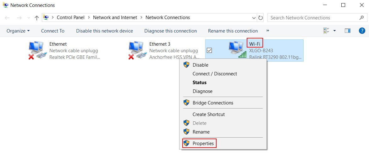 Network Connections