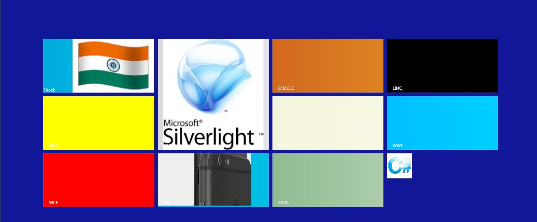 How to create screen like windows 8 using devexpress controls