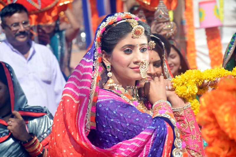 Naira from Yeh Rishta Kya Kehlata Hai celebrates Ghangor on the show