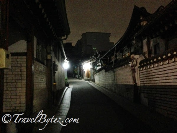 Bukchon Village at night