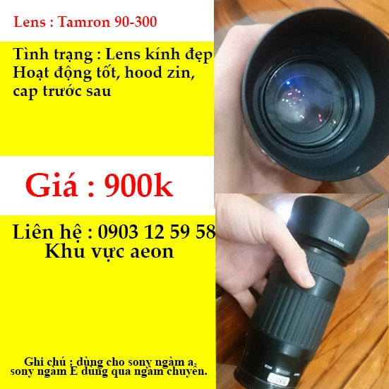 Lens tamron 90-300 for sony a mount