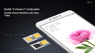 Xiaomi Mi Max Hybrid SIM Tray