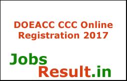 DOEACC CCC Online Registration 2017
