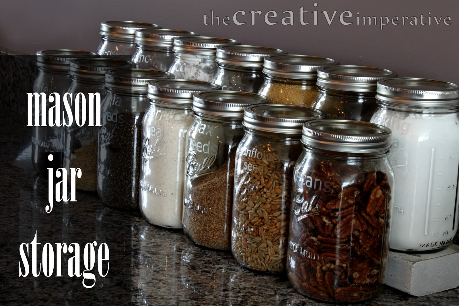 Attirant The Creative Imperative Mason Jar Storage For Kitchen