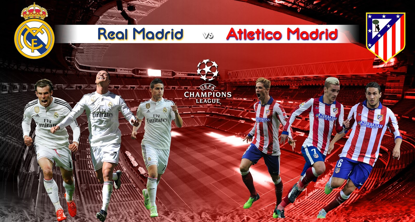 Watch the Champions League 2016 Final Real Madrid Vs Atletico de Madrid