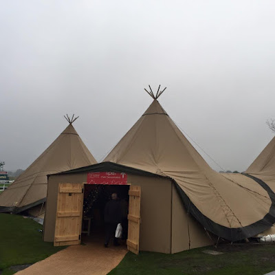 Tipi's and chef demonstrations at Living North Christmas Fair