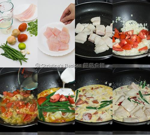 椰汁煮魚製作圖 How To Make Fish in Coconut Soup