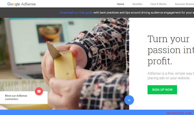 adsense, free account adsense, homepage adsense