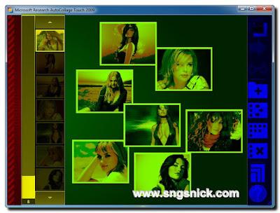 AutoCollage Touch 2.0.2009 build 0806 - Рабочая область