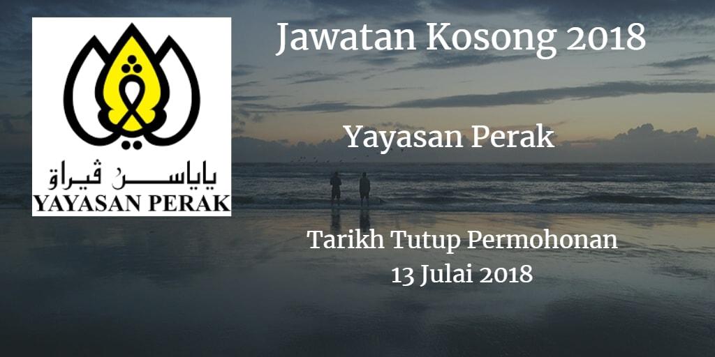 Jawatan Kosong Yayasan Perak 13 Julai 2018
