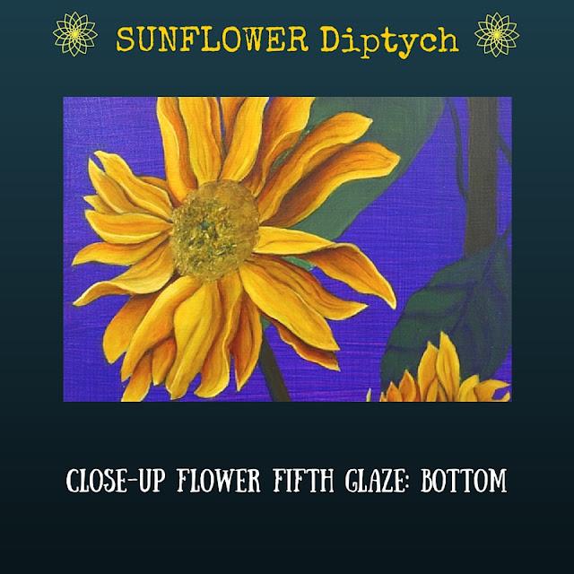 CLOSE-UP Fifth color glaze Bottom Sunflower