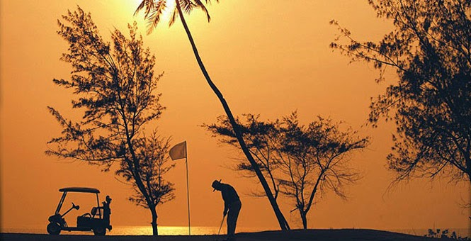 Golf Course at the luxurious Lalit Beach Resort in Goa