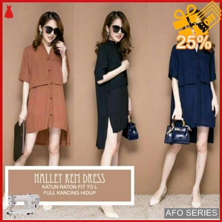 AFO382 Model Fashion Halley Kem Dress Modis Murah BMGShop