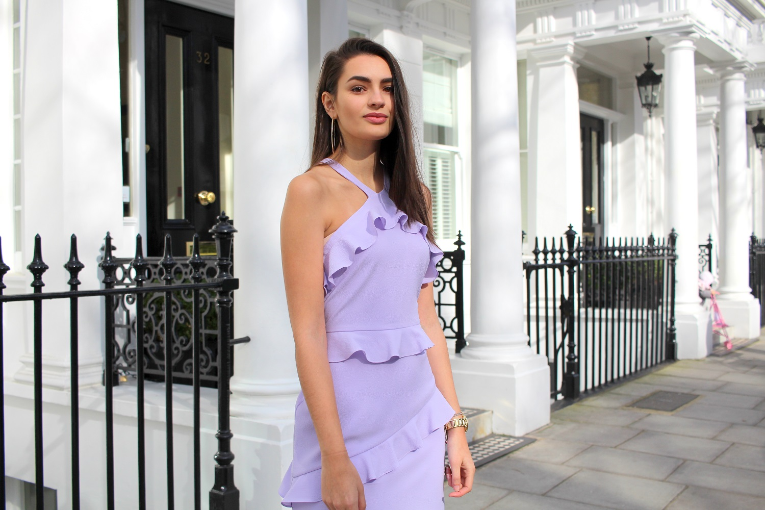 spring dress ruffles lilac peexo