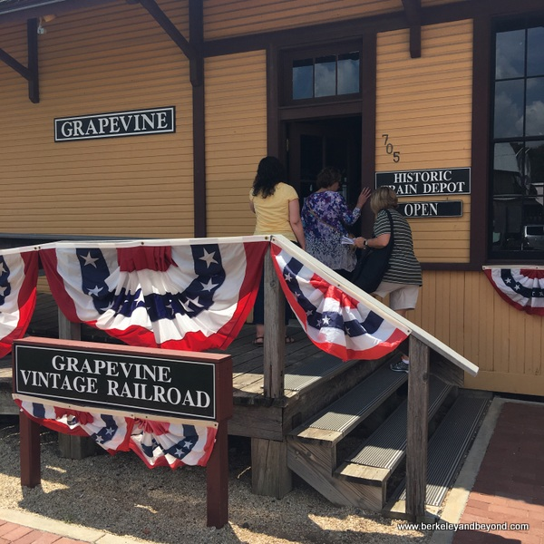 Grapevine Vintage Railroad ticket office in Grapevine, Texas