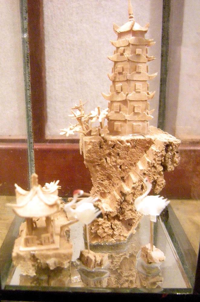 Chinese Fuzhou Cork Art 汉语 福州软木画