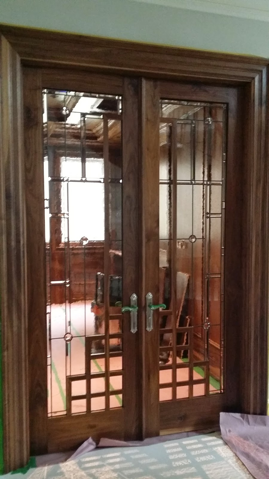 Interior Doors With Glass Inserts : Glassworks studio leaded glass interior door inserts with