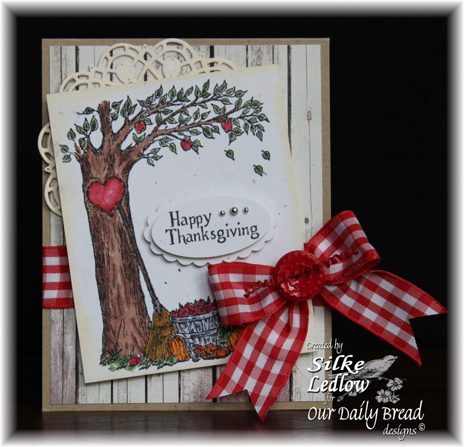 Stamps - Our Daily Bread Designs Autumn Tree, ODBD Rustic Beauty Paper Collection, ODBD Custom Doily Dies