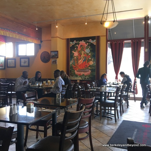 dining room at Taste of the Himalayas in Berkeley, California