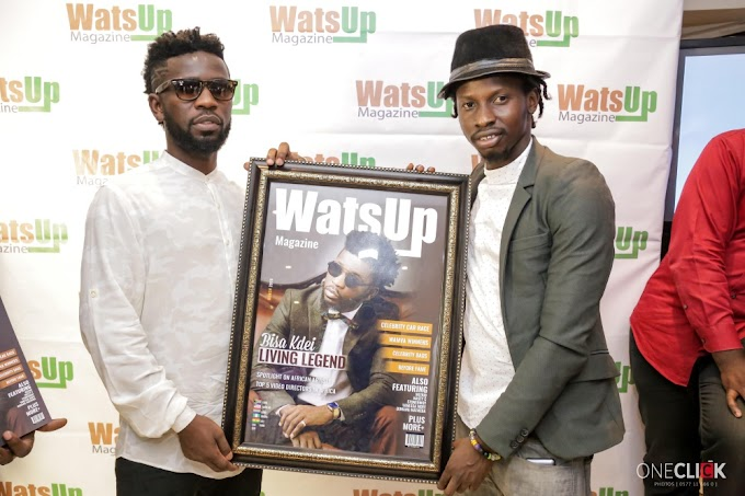 Photos: Bisa Kdei covers maiden edition of Watsup Magazine