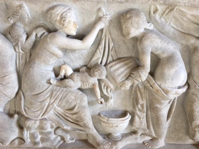 El bany de nounat Dionís