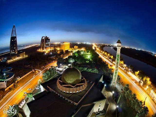 صورة لمسجد  من العاصمة السودانية الخرطوم