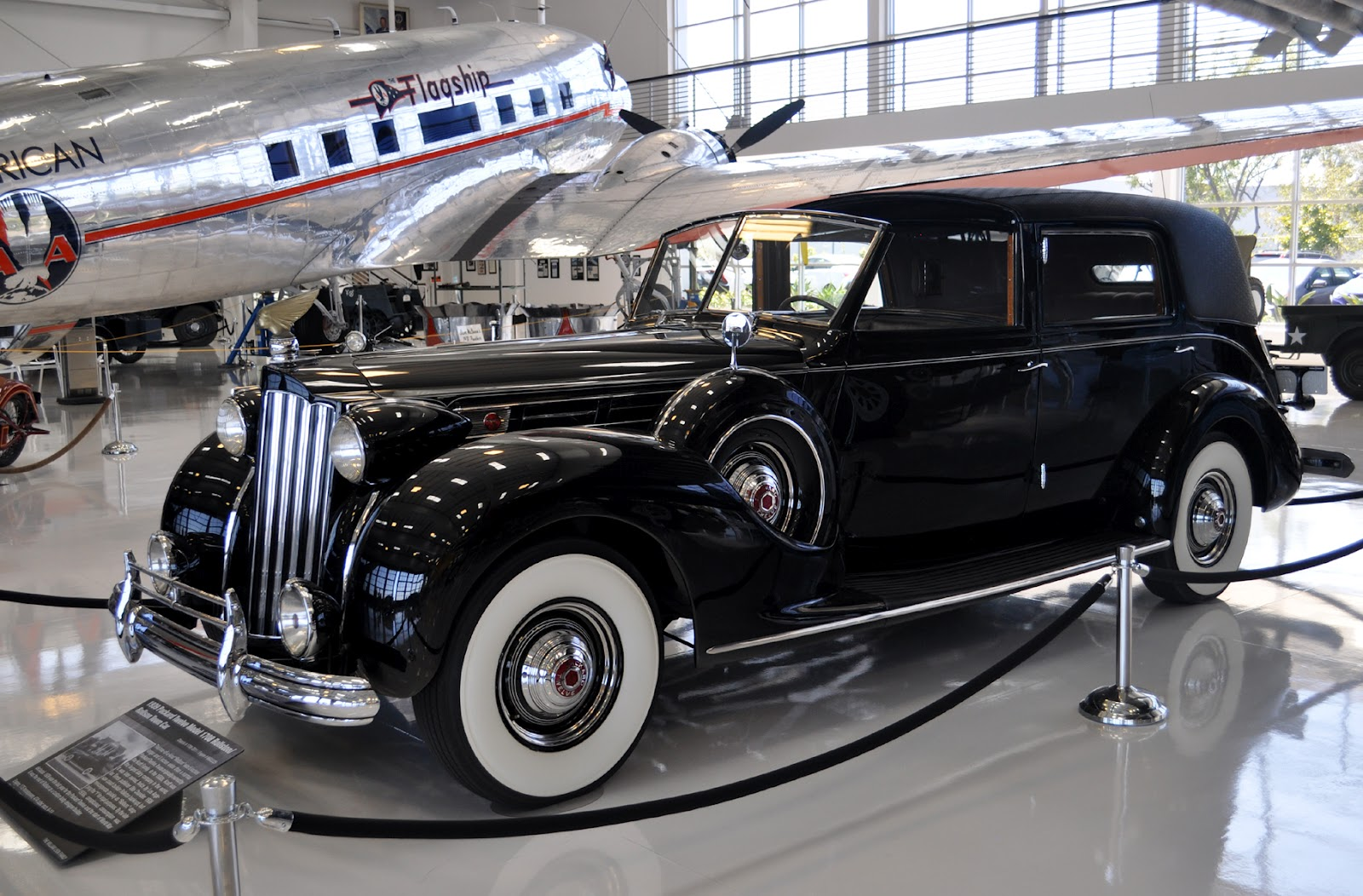 just a car guy the lyon air museum in santa ana will still have this packard exhibit on display. Black Bedroom Furniture Sets. Home Design Ideas