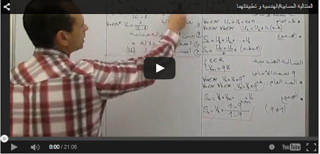 شرح درس متجهات الفضاء وتحليلية الفضاء بالفيديو