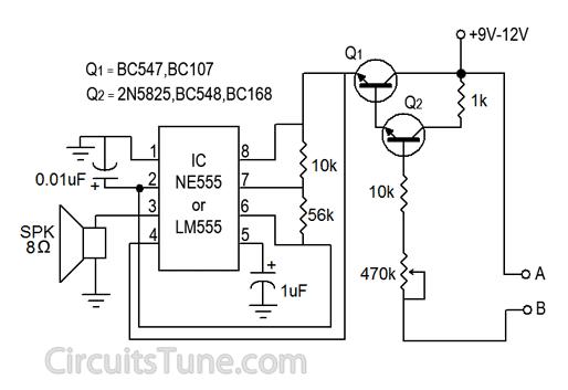 Water Sensor Circuit Diagram Using Ic 555 Circuitstune