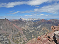 The view from the summit of Pyramid Peak in the Elk Mountain Range