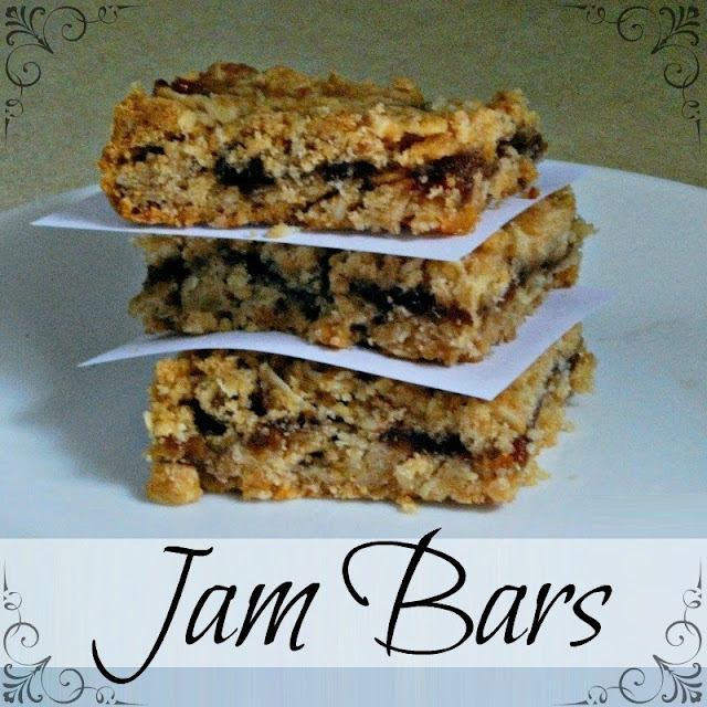 These Jam Bars are quick and easy to make and are a delicious treat.