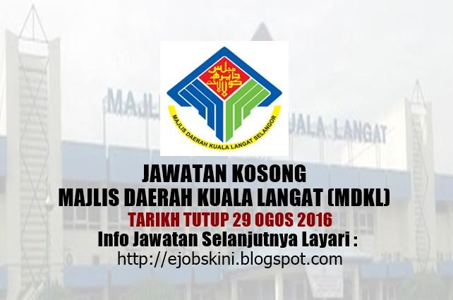 Jawatan Kosong di Majlis Daerah Kuala Langat (mdkl) ogos 2016