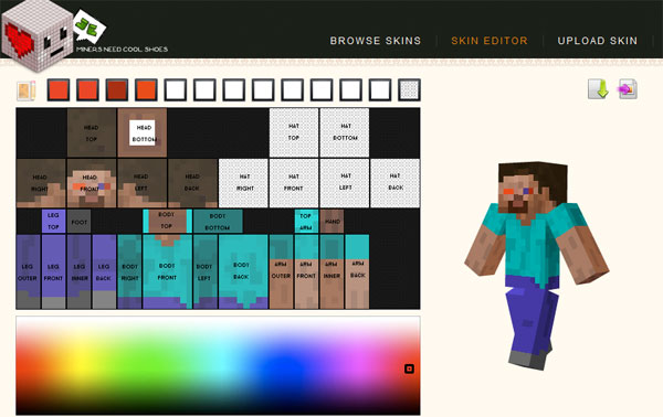 ... Minecraft online skin editor, you can customize your own Minecraft