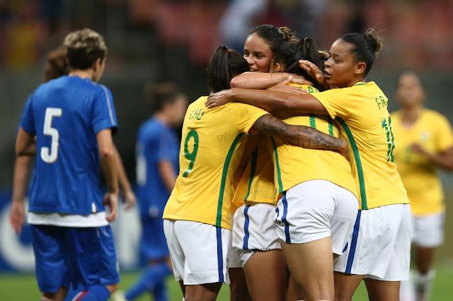 d5221c6c0f Manaus 2016  Seleção Feminina vence Itália e avança como líder