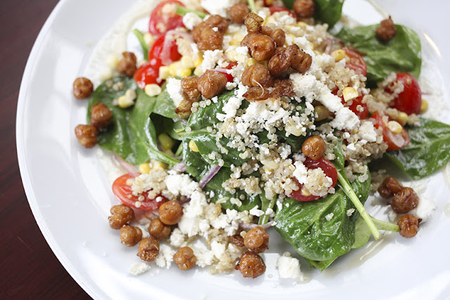Spinach and Quinoa Salad from Eleven South Bistro and Bar