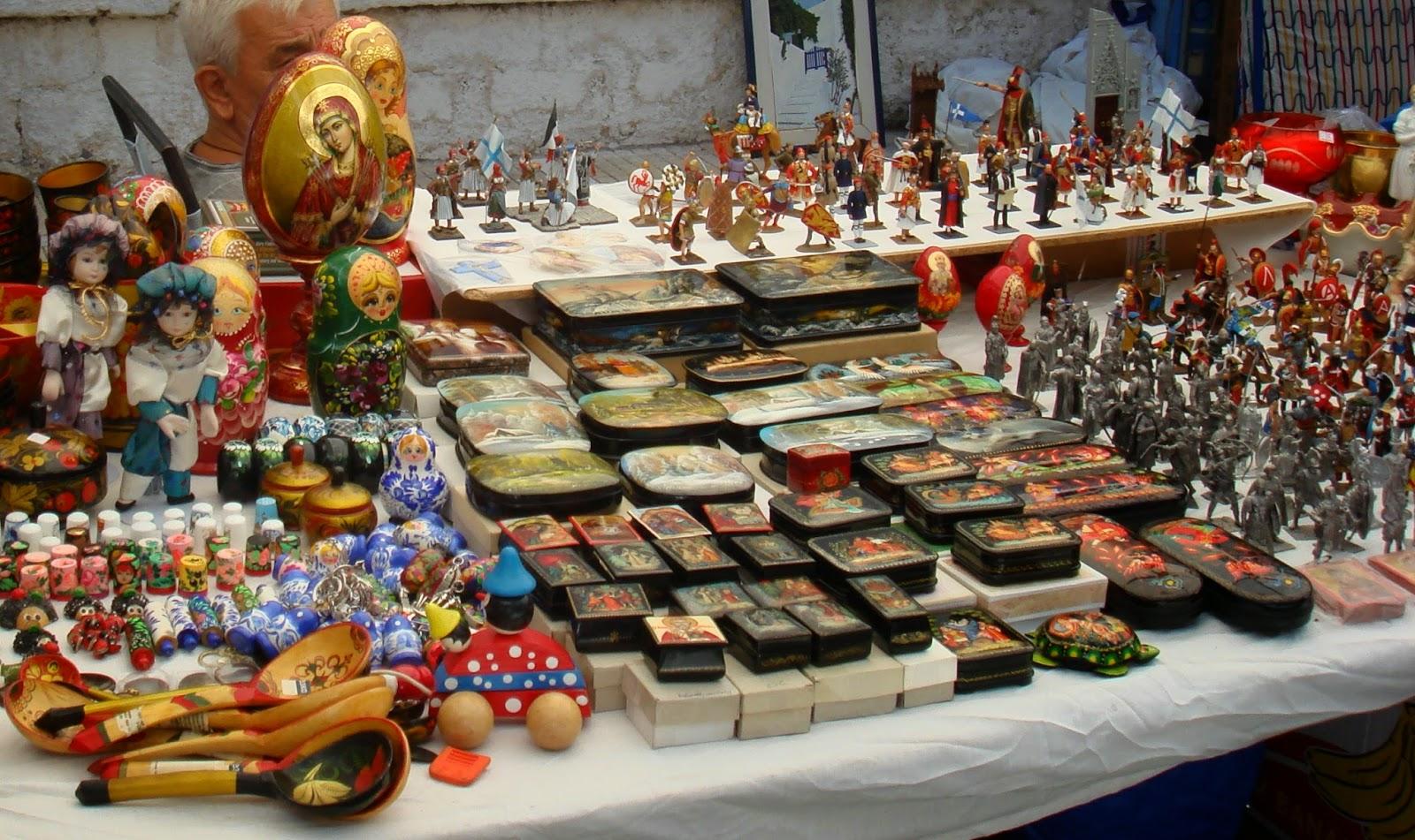 Russian wares.Panigiri Loutraki