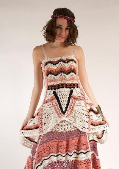 Falda Hippie de Crochet