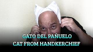 Orejas de gato del pañuelo, CHAPEAUGRAPHY, Cat's ears from handkerchief