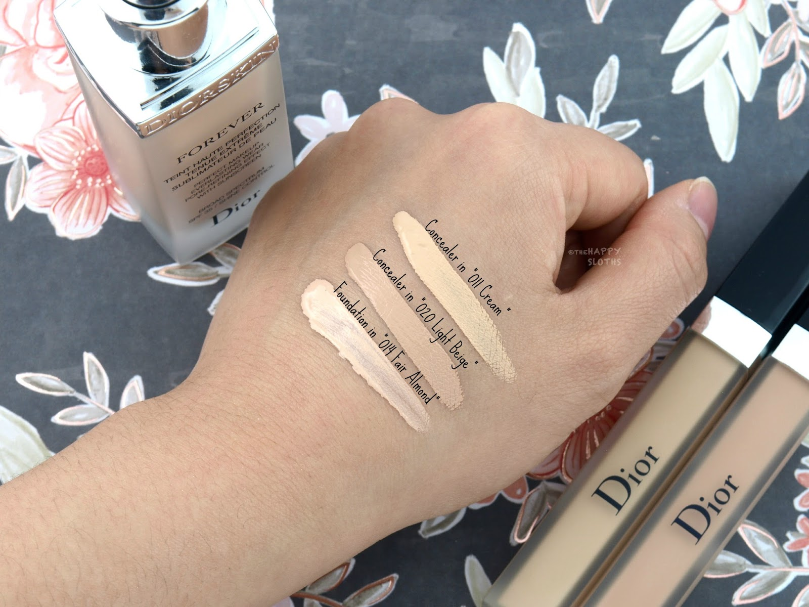"Dior Diorskin Forever Perfect Foundation in ""014 Fair Almond"" and Undercover Concealer in ""011 Cream"" & ""020 Light Beige"": Review and Swatches"