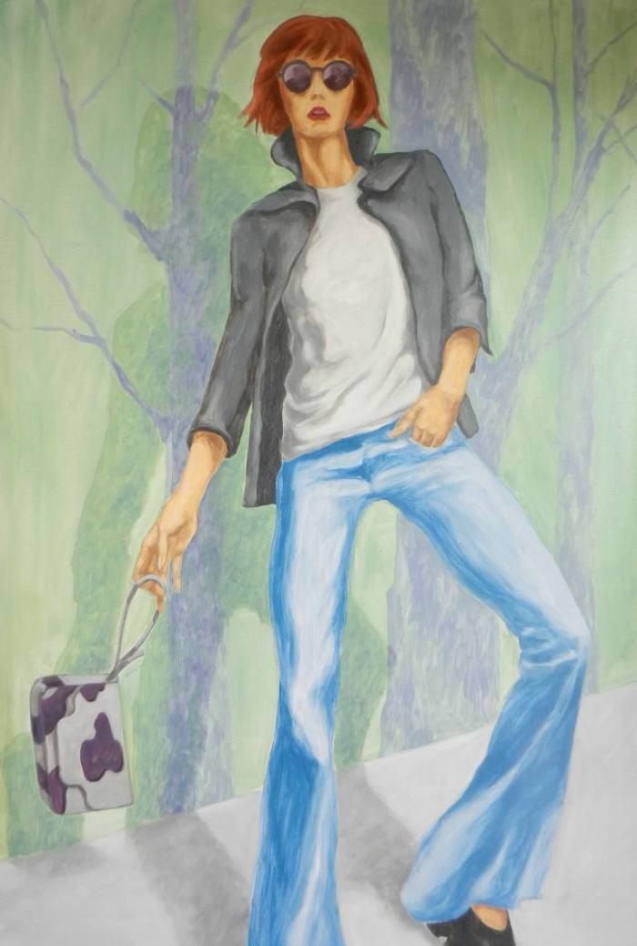 Бельгийский художник. Halina Leaniuk