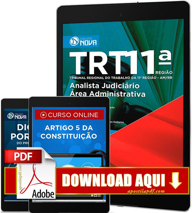 Apostila TRT 11 2016 PDF Download Analista Judiciário Área Administrativa