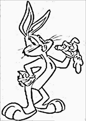 Cartoon Easter Bunny Coloring Pages - Colorings.net
