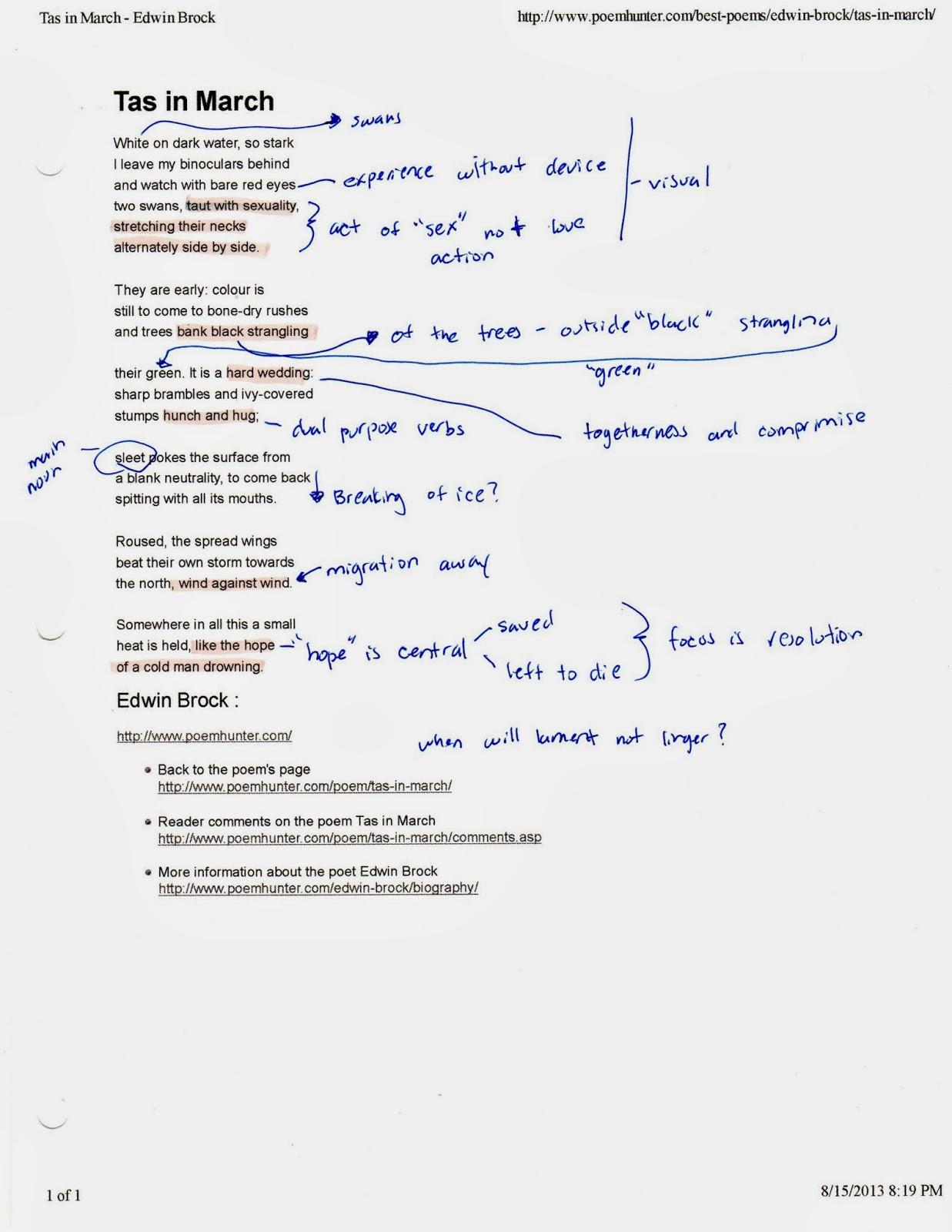 Stanzas written in dejection explication - Research paper Sample