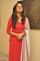 Anasuya Bharadwaj in Red at Kalamandir Foundation 7th anniversary Celebrations ~  Actress Galleries 043.JPG